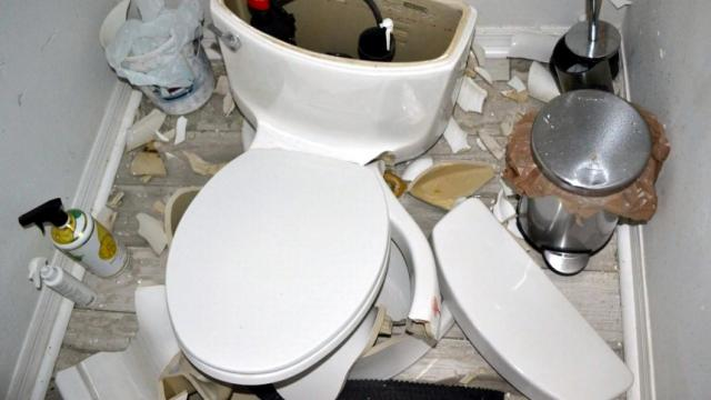 Fabulous Lightning Strike Explodes Toilet In Florida Wral Com Gmtry Best Dining Table And Chair Ideas Images Gmtryco