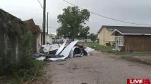 IMAGES: Roofs 'peeled back like a banana' when downburst hits Benson