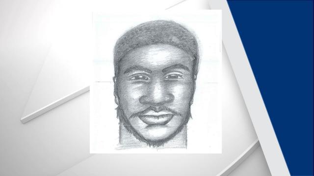 Sketch of suspect in Fayetteville rape (Fayetteville police photo)