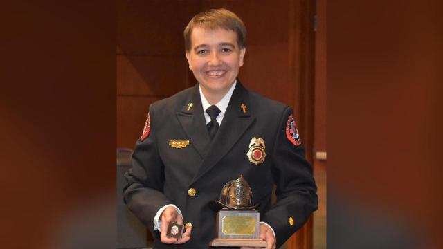 Lauren Deer, a Raleigh-area firefighter, was recently honored as North Carolina's Firefighter of the Year for 2019, according to Firehouse. Credit: Facebook