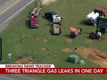Gas leak in Johnston County one of three in Triangle