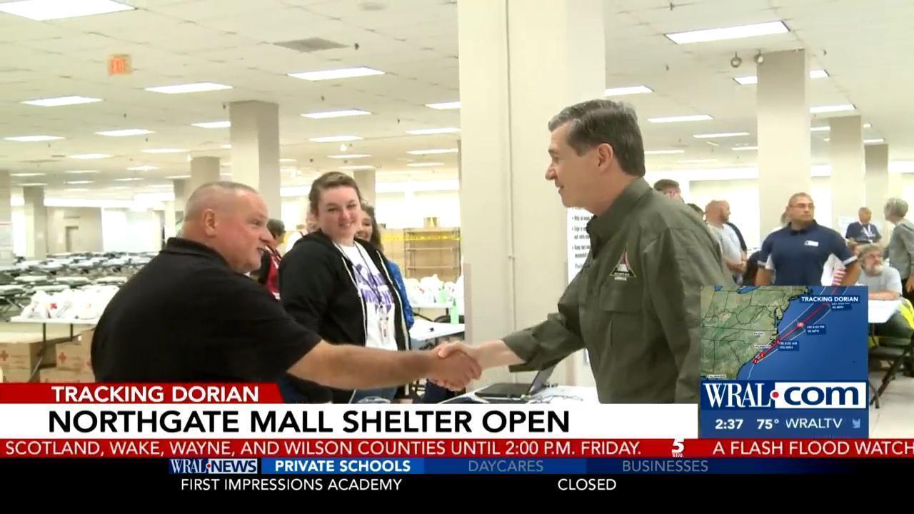 Northgate Mall in Durham open as shelter during Hurricane