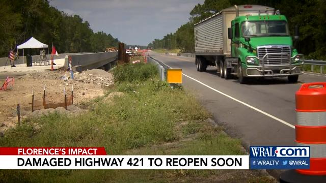 Hwy. 421 bridge almost set to open
