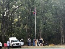 Confederate flag in Pittsboro