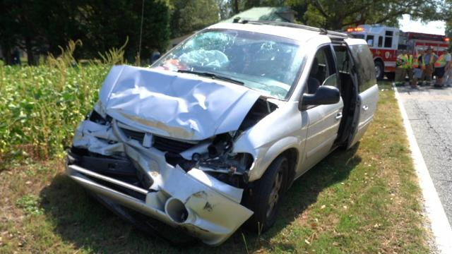 Crash in Johnston County