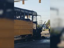 Cary school bus fire