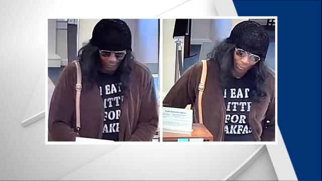 Photos released of suspect who robbed Fayetteville bank in broad daylight (Credit: Fayetteville PD)