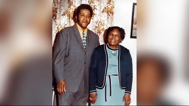 Essie with her husband of 50 years, Leonard Whitaker, Sr.