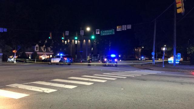 Pedestrian hit in Raleigh
