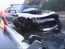 Smithfield Police Department cruiser involved in crash