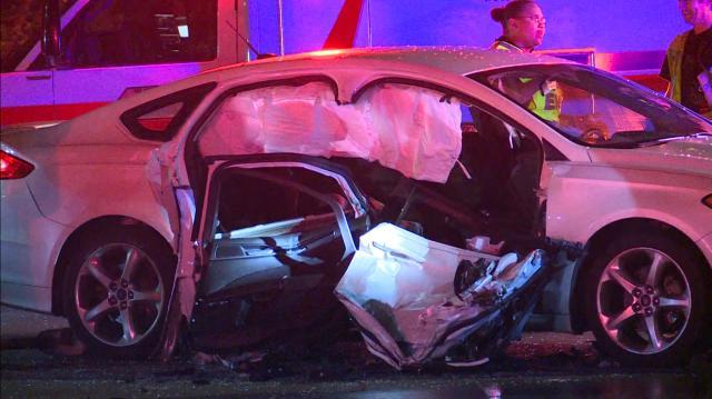 Vehicle damaged in Tuesday morning crash