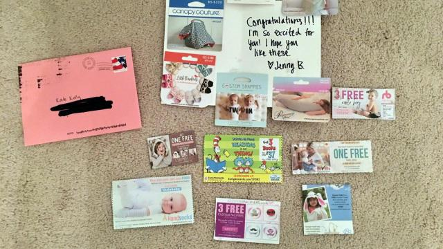 Pregnancy notes and gift cards from mysterious sender