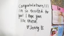 IMAGES: 'I'm not pregnant': Chapel Hill woman puzzled by congratulatory note and gift cards