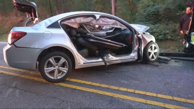 Two seriously injured in head-on crash in Garner