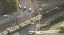 IMAGE: Female pedestrian struck, killed by train in downtown Raleigh