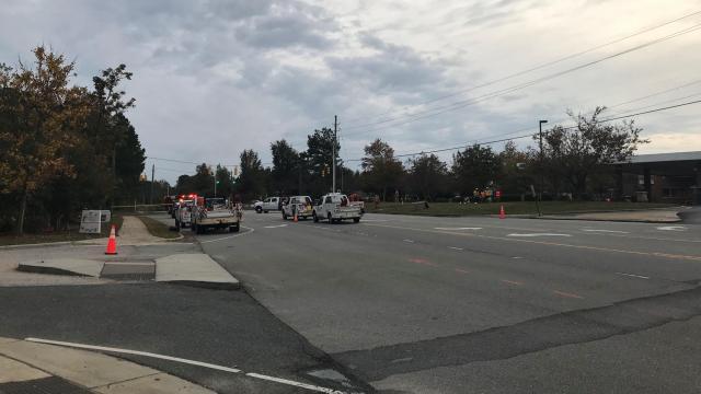 Gas leak in Holly Springs