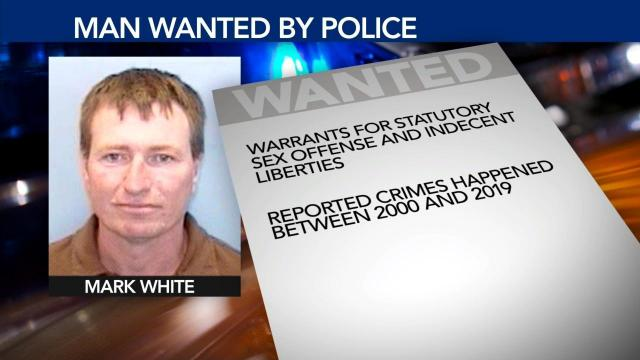 Mark White (Wake Forest Police photo, WRAL graphics)