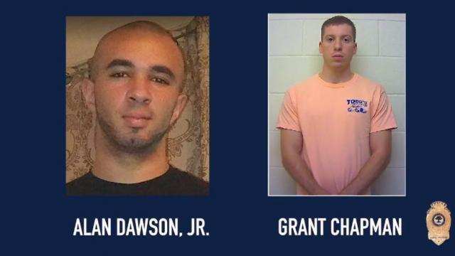 Alan Dawson Jr. and Grant Chapman (Raleigh Police photos)