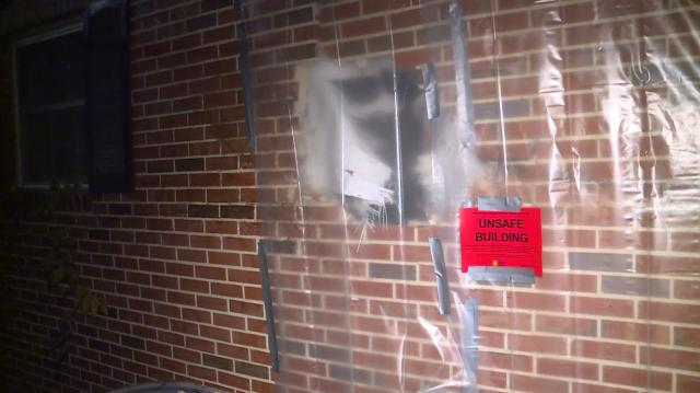 Car barrels through Raleigh house; tire lands in man's closet