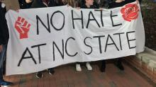 IMAGES: NC State students ask university to cut ties with Raleigh Police Department