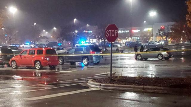 Police investigate a Nov. 18, 2019, shooting in the parking lot of a Harris Teeter on Raleigh Road Parkway West in Wilson. (Photo courtesy CeCe Sauls)