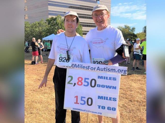 In honor of his son, Adam, Nick Nickerson is running 3,000 miles toraisemoney to better understand autism.Credit: Nick Nickerson Facebook.