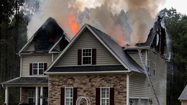Wake Forest house fire