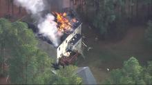IMAGES: Cause sought after fire damages Wake Forest home