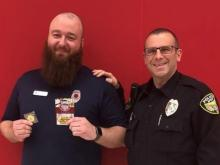 Officer P. Pope and Target Security Specialist Kenneth Jeffers