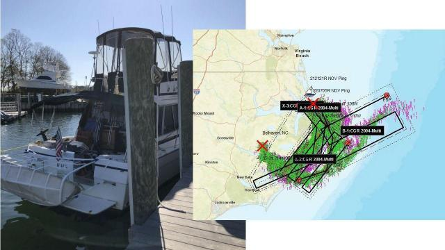 Search for missing boater off NC coast (Coast Guard photos)