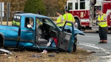 IMAGES: Four injured in two-vehicle accident at Harnett County intersection