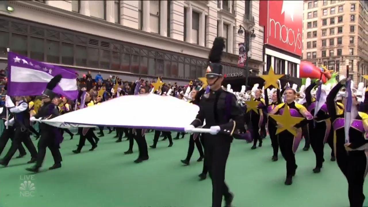 Western Carolina University band marches in Macy's