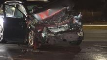 IMAGES: Car slams into GoRaleigh bus on Capital Boulevard