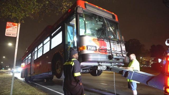 Car slams into GoRaleigh bus on Capital Boulevard