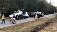 IMAGE: Woman killed, her 2 children hurt in Johnston County crash