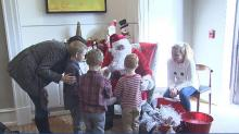 IMAGE: Young cancer patients and their families celebrate making it to another holiday