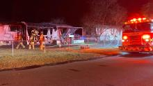 IMAGE: Fire destroys mobile home in Fayetteville