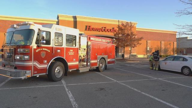 Fire damages Home Goods at Southpoint in Durham