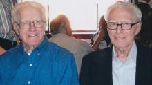 IMAGES: Sanford WWII vet and his Identical twin brother celebrate turning 100 years old