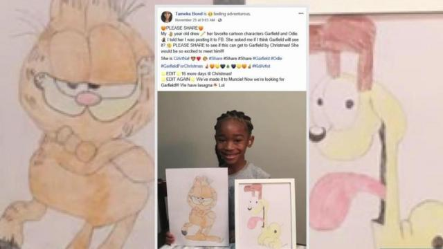 Charlotte 5-year-old shows off incredible drawing talents, inspired by Garfield