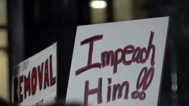 Impeachment rally in Raleigh