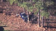 IMAGE: Driver killed after crashing along I-40 ramp to Wade Avenue