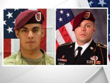 Pfc. Miguel Angel Villalon of Illinois (left) and Staff Sgt. Ian Paul McLaughlin of Virginia (right)
