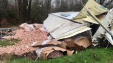 IMAGES: Segment of Kenly road shut down after crash spills chicken bones over highway
