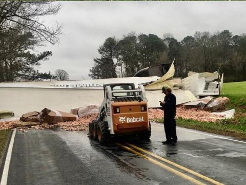 Crash on Princeton Kenly road.