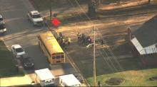 IMAGES: 29 elementary students involved in school bus accident in Clayton