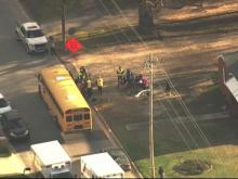 Elementary students involved in school bus accident in Clayton