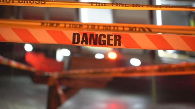 'Danger' crime scene tape