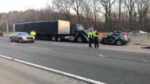 IMAGES: Young woman dies in wrong-way crash with tractor-trailer on I-40 in Durham