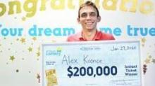 IMAGE: Orange County man strikes 'GOLD' with $200,000 winning lottery ticket